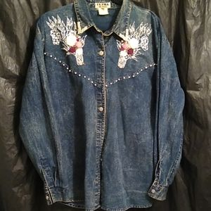 Ultra embellished beaded button   jean jac…